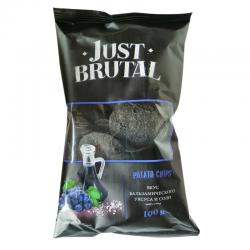 Чіпси картопляні Just Brutal зі смаком бальзамічного оцту та солі 100 г