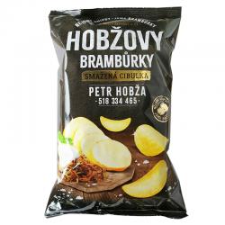 Чіпси картопляні Hobžovy зі смаком смаженої цибулі 150 г