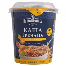 Каша гречана Новоукраїнка з куркою та овочами 60 г