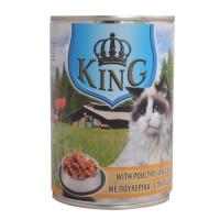 Корм King cat вологий зі смаком птиці 415г