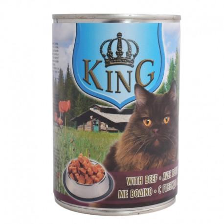 Корм King cat вологий зі смаком яловичини 415г