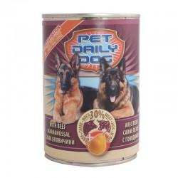 Корм Pet daily dog вологий зі смаком яловичини і груші 415г