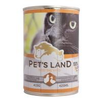 Корм Pet's land cat вологий зі смаком птиці 415г