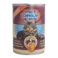 Корм Pet daily cat вологий зі смаком яловичини і груші 415г