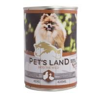 Корм Pet's land dog вологий зі смаком птиці 415г