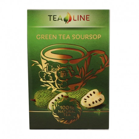 Tea Line Green tea soursop – зелений чай з ароматом соусепу 90 г