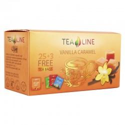 Tea Line Vanilla caramel – чорний чай з ароматом ваніль-карамель 90 г