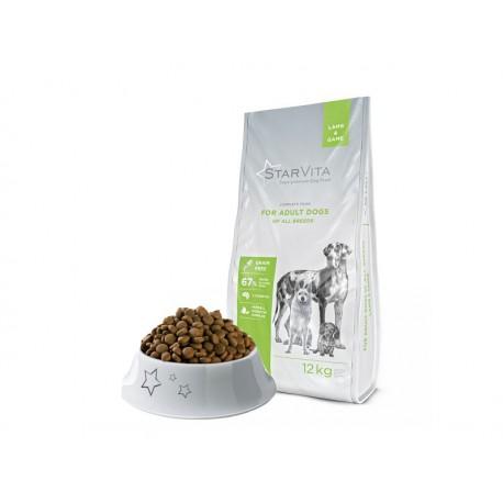 Сухий корм Starvita 12 кг для дорослих собак, з бараниною та курицею