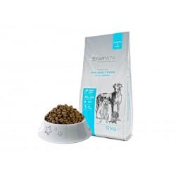 Сухий корм Starvitа 12 кг для дорослих собак, з курецею та рибою
