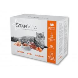 Вологий корм Starvita 12х85 г мікс смаків