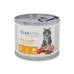 Вологий корм Starvitа 200 г яловичина з кроликом