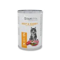 Вологий корм Starvitа 400 г яловичина з кроликом