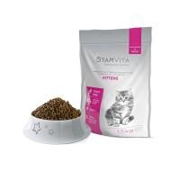 Сухий корм Starvita 1.5 кг для кошенят, з куркою та качкою