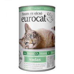 Корм Eurocat вологий для котів з дичини 415 г