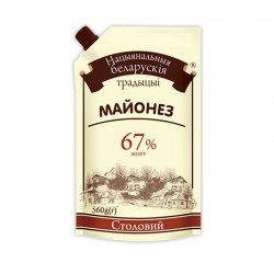 "Майонез Національні білоруські традиції ""Столовий"" 67% 560гр дой-пак"