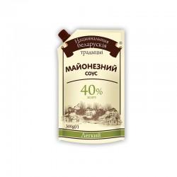 """Майонезний соус Національні білоруські традиції """"Легкий"""" 40% 300гр дой-пак"""