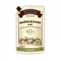 """Майонезний соус Національні білоруські традиції """"Легкий"""" 40% 560гр дой-пак"""