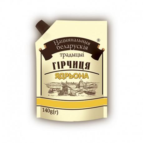 """Гірчиця Національні білоруські традиції """"Ядрьона"""" 140г дой-пак"""