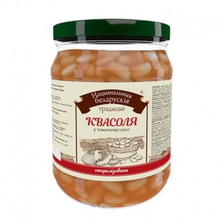 Квасоля в томатному соусі Національні білоруські традиції 480г ск/б